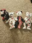 2 Glory, 1 Spangle and 1 Lefty Ty Beanie Baby Independance 4th of July America