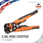 85 MultiPurpose Electrical Wire Stripping Tool Crimper Pliers Insulated Cutter