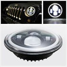 Car Motorcycle 1 Pcs 7'' 100W Round LED Headlight Halo Angle Eyes DRL Waterproof