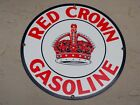 ANDY ROONEY RED CROWN GASOLINE PORCELAIN ENAMEL SIGN STANDARD OIL AMOCO GAS