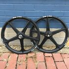 ACS Z MAG 5 SPOKE MAG BMX WHEELS BLACK 20 SET FREEWHEELS