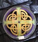 Peggy Karr CELTIC KNOT Fused Glass 7 3 4 Plate Signed Sticker NEW