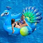 Large Peacock WATER FLOAT Inflatable Swimming Pool Beach Island Raft Adults Kids
