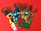 Handcrafted Christmas Tags from Die Cuts Lot of 6
