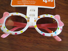 Toddler Girls Pink  White MEOW Sunglasses 100 UVA UVB New With Tags