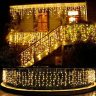 13 130FT LED Fairy Icicle Curtain Lights Party Indoor Outdoor Xmas Decoration