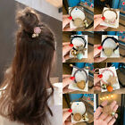 Women Girls Crystal Hair Ring Rope Band Tie Rubber Ponytail Holder Scrunchies