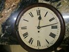 Antique English Wall School Clock Fusee Movement Runs