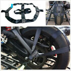 Universal Motorcycle Rear Wheel Handlebar Transport Bar Tie Down Strap Durable