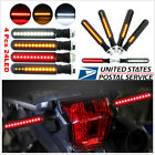 4 Pcs Motorcycle LED Water Flowing Turn Signal Indicator Light Flash Brake Light