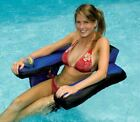 Swimline Nylon Covered U Seat Lounger Swimming Pool Inflatable Floating Chair