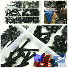 177 Pcs Motorcycle Black Fairing Bumper Bodywork Panel Bolts Screw Fastener Kit