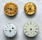 Lot #7.  Antique Fusee Pocket Watch Movements.   Nice Dials.