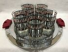 Georges Briard On-The-Rocks Glasses Mid Century Set Tray with Bakelite Handles
