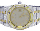 Ladies Audemars Piguet Royal Oak 33MM 18K/Steel Two Tone Diamond Watch 10.75 Ct
