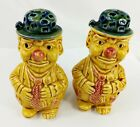 Vintage Clown Salt and Pepper Shakers made in Japan