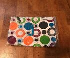 Thirty One Statement Multi Dot J Canvas Zip Large Top Pouch New In Plastic Bag