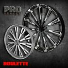 23 Inch Roulette Custom Motorcycle Wheel Harley Bagger Touring