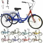 Adult 16 20 241 7Speed 3 Wheel bicycle Tricycle Large Basket For Shopping US