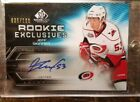 2010-11 SP GAME USED JEFF SKINNER ROOKIE EXCLUSIVES AUTOGRAPH 039 100 HURRICANES