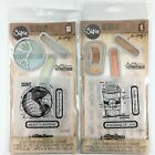 Tim Holtz Sizzix Lot Of 2 Sets Coffee Journey Clear Stamps Dies Embossing Folder
