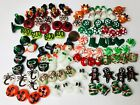 Assorted Lampwork Glass Beads Mixed Christmas Halloween Thanksgiving LOT 96