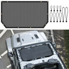 Front Eclipse Bikini Soft Top Mesh Cover Roof UV Sun Shade For Jeep Wrangler JL