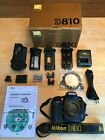 Nikon D810 US MODEL Camera Body Shutter Count 8654 W Many Accessories