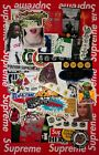 Supreme HUGE Sticker MYSTERY PACK 100 Authentic 15 DIFFERENT STICKERS Bogo