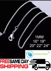 925 Sterling Silver Box Chain Necklace 925 All Sizes 16 18 20 22 24