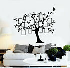 Vinyl Wall Decal Family Tree Branch Genealogical Frames Photos Stickers g1142