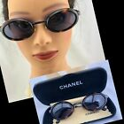 Vintage CHANEL Brown Oval Tortoise Sunglasses 09610 91235