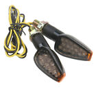 Motorcycle LED s Blinker Indicators Turn Signal 12V Light Carbon Fiber Look B7D5
