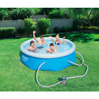 Inflatable Swimming Pool with 330 Gallon Filter Pump 8 ft x 26 inch Round Sturdy