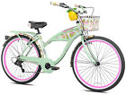 Cruiser Bike Sports for Women Height 5 ft 2 inch and Up Green Multi Speed Unique