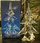 Toscany Crystal Art Glass Clear Christmas Down Swept Pine Tree 8 IOB