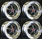 New Magnum 500 Wheels Set of 4 15x7 Set Complete with red caps and lug nuts