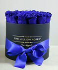 The Million Roses Cobalt Blue Preserved Eternal Roses Flowers Collectable Gift