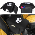 Center Console Pad Cover w Car Seat Side Pocket for Jeep Wrangler JK Dog Paw