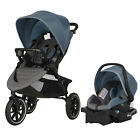 Evenflo Folio3 Stroll and Jog Travel System with LiteMax 35 Infant Car Seat,