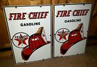 TEX-RIFFIC Vintage 1960 Texaco Fire Chief 2 Gas Pump Porcelain Enamel 18