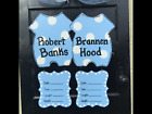 Twins hospital wreathtwins personalized birth announcement door hanger