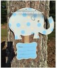 Personalize hospital wreathelephant personalized birth announcement door hanger