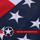 3x 5 Ft American Flag US Flag 420D Polyester Embroidered Stars Brass Grommets