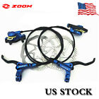 Bicycle Hydraulic Disc Brakes Calipers Bike FrontRear with 160 180mm Rotors US
