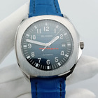 New watches 40mm Sapphire glass deep blue Dial Date Automatic Mens Watch 2902