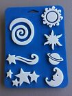 Simply Stamps Foam Stamp SetCelestial Theme 53827 Sun Moon Stars Planet