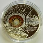 Cook Islands 2012 $10 WINDOWS OF HISTORY RMS Titanic 50 g Silver Coin