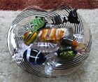 Vintage Genuine Murano 9 glass candies and candy dish from Italy