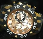 Invicta Men's Rare Reserve Swiss Chronograph Rose Dial Black Poly Watch 0919